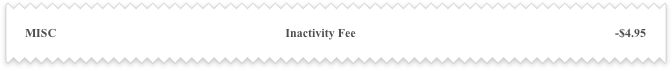 Inactivity-Fee